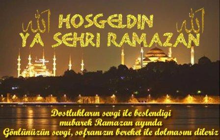 Ramazan-� �erifiniz M�barek Olsun