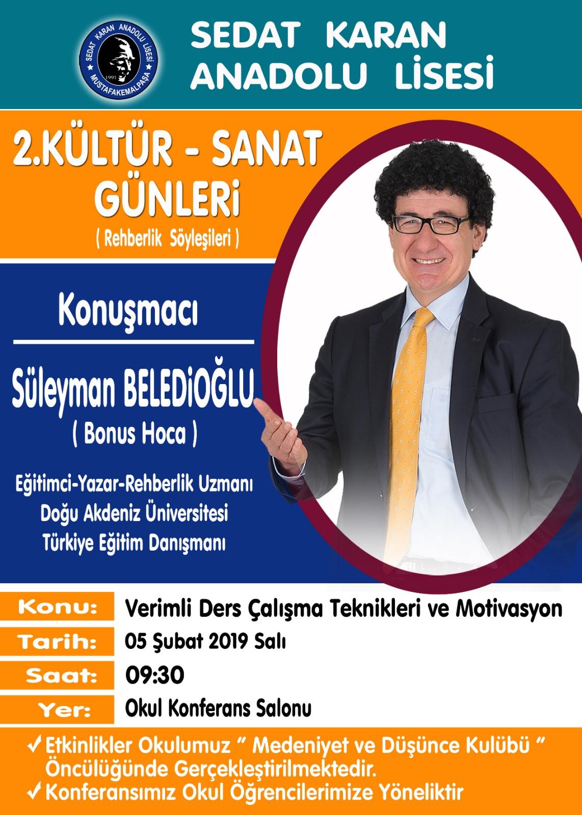 Bonus Hoca Sedat Karan Anadolu Lisesi'nde