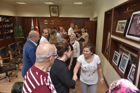 Ba�kan Kurtulan belediye personeli ile bayramla�t�
